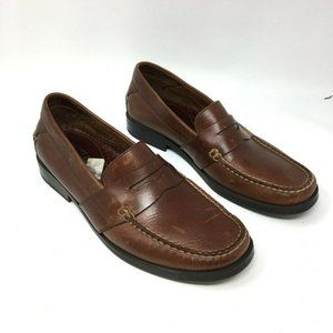 Eastland Mens Brown Leather Pepperdine Loafers 8